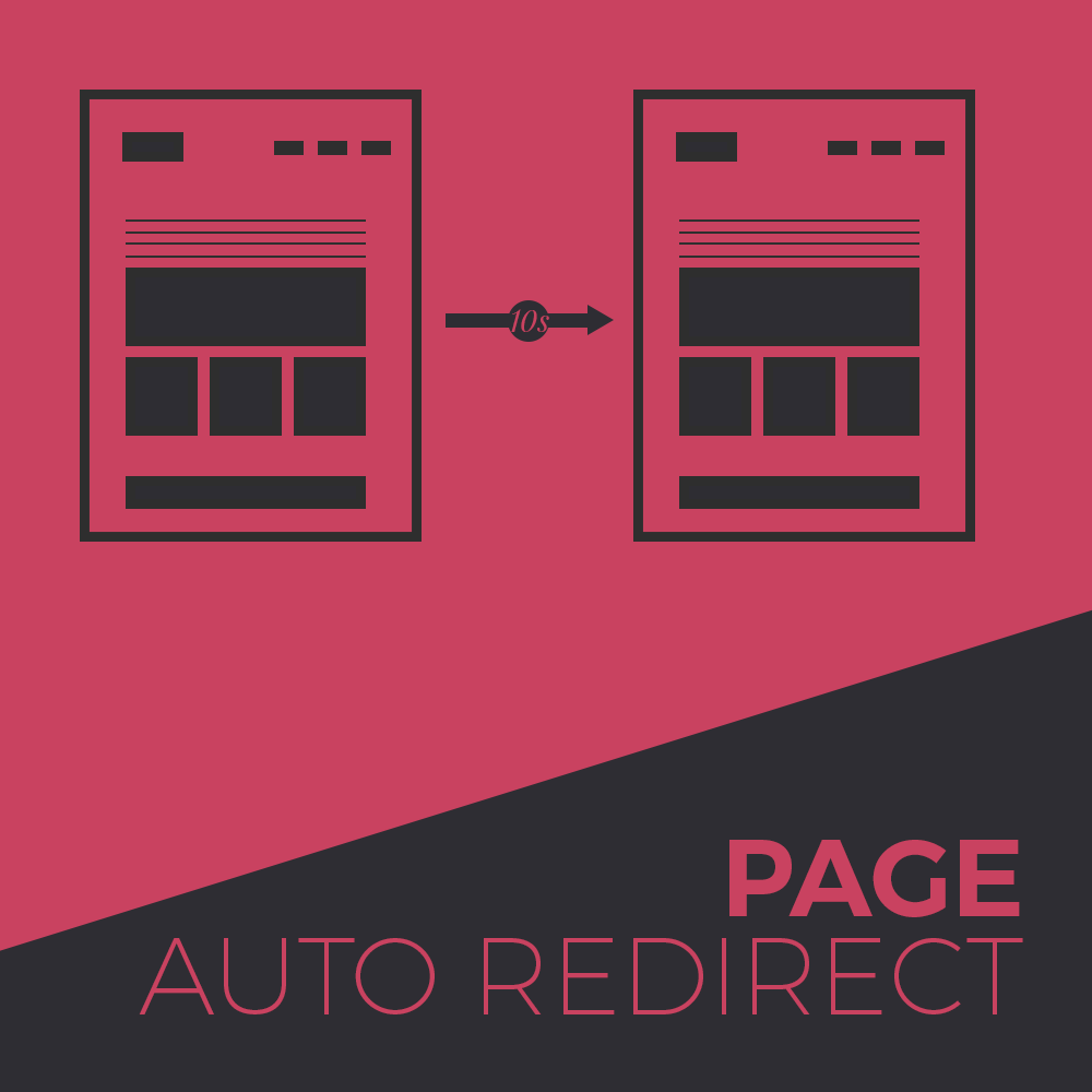 Auto Page Redirect widget for muse free