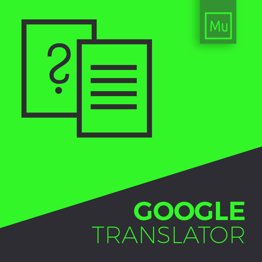 Google Translator widget for adobe muse