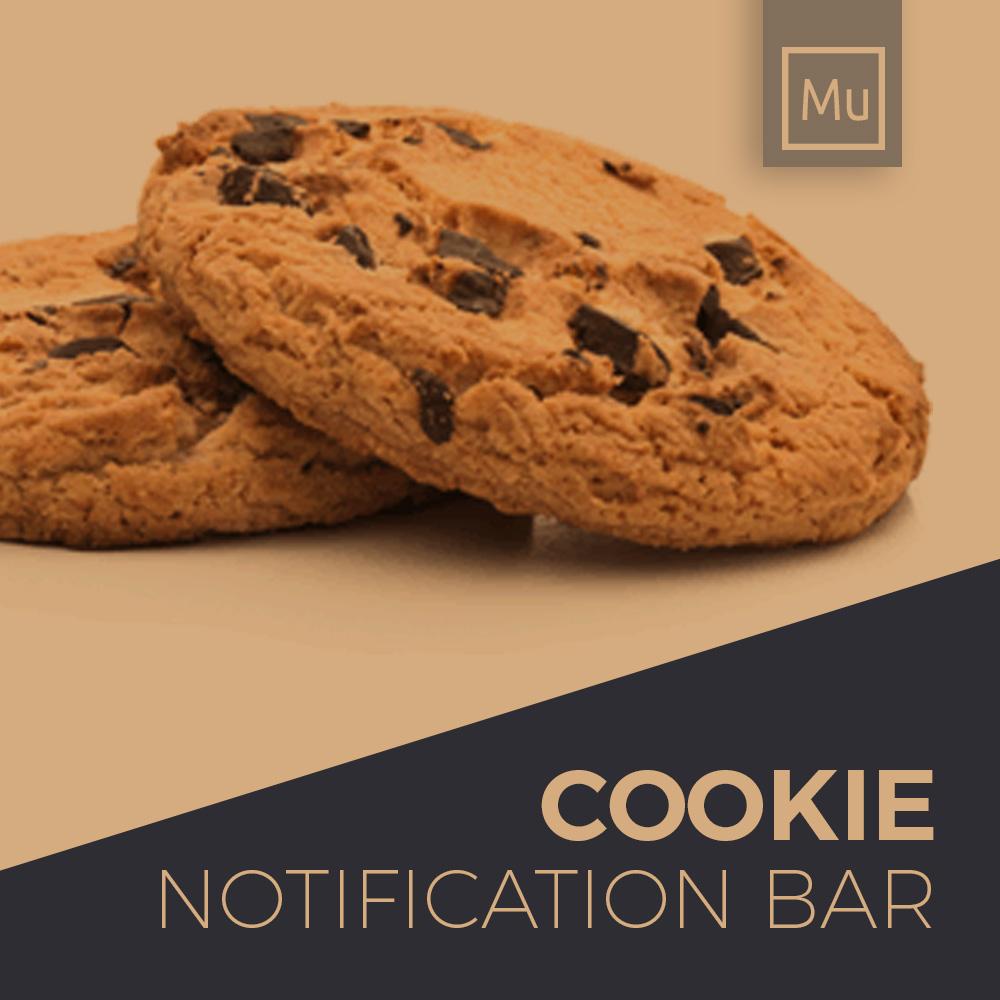 Adobe Muse Free Widget - Cookie notification bar